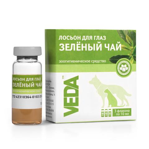 Veda Фитоэлита лосьон для глаз зеленый чай 10мл