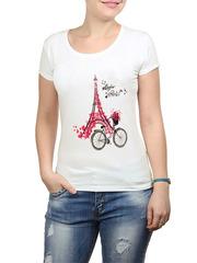 2352-1 футболка женская, белая