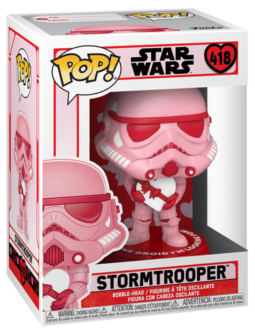 Funko POP! Bobble: Star Wars: Valentines: Stormtrooper with Heart || Штурмовик с любовью