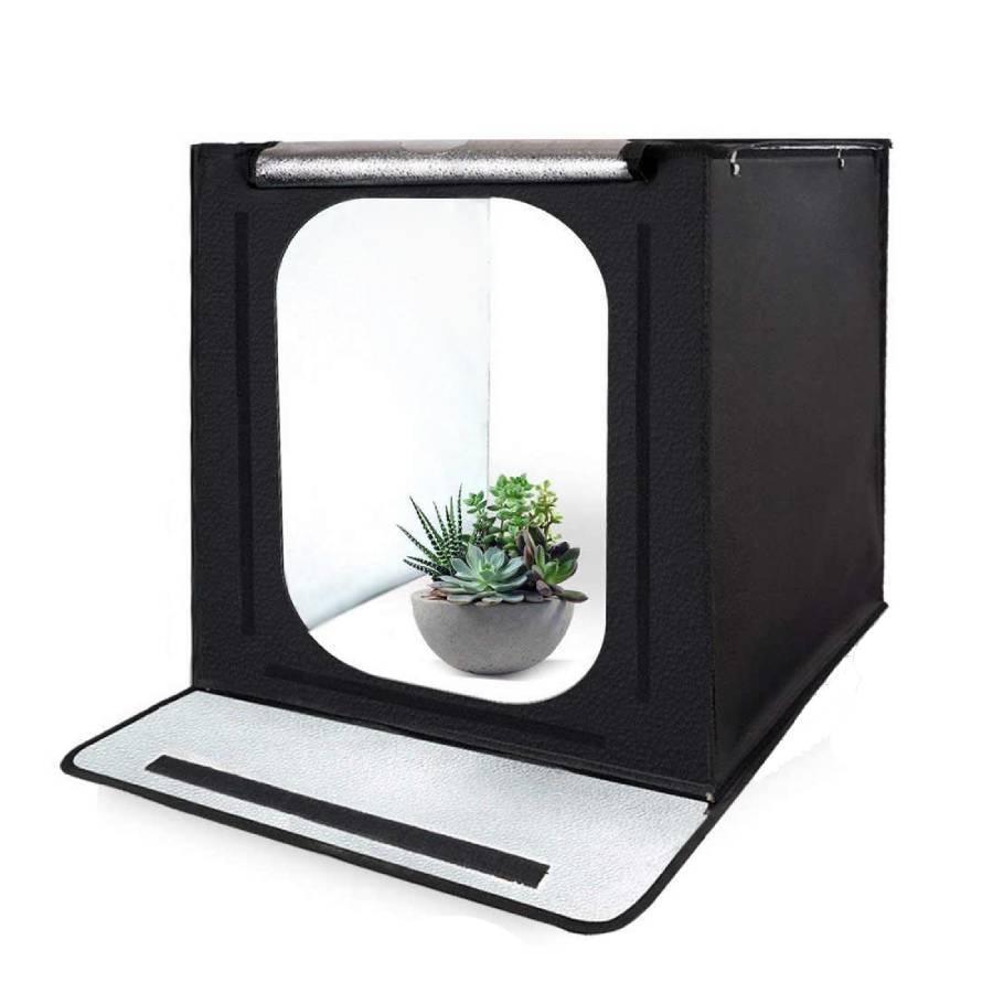 Гаджеты и hi-tech аксессуары Фотобокс каркасный Portable Light Tent Kit с LED подсветкой (40x40x40 см) fotoboks-karkasnyy-portable-light-tent-kit.jpg