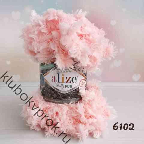 ALIZE PUFFY FUR 6102, Нежный розовый