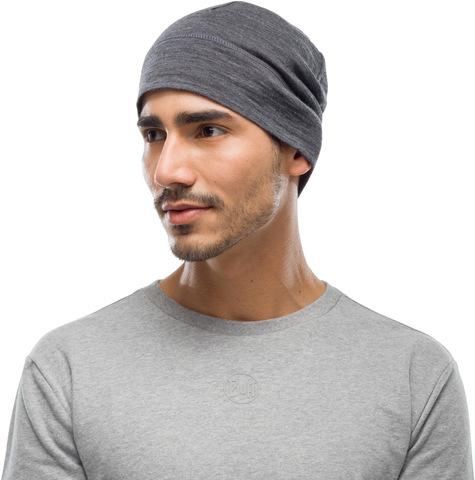 Тонкая шерстяная шапка Buff Solid Grey фото 2