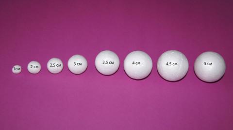 054-6234  Шар из пенопласта, 10 шт. (3см)