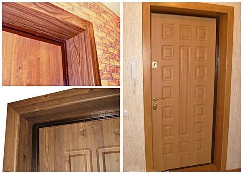 Откосы, внутренняя отделка проемов входных дверей