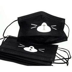 Pink House, Защитная маска черная с рисунком, 5шт/уп