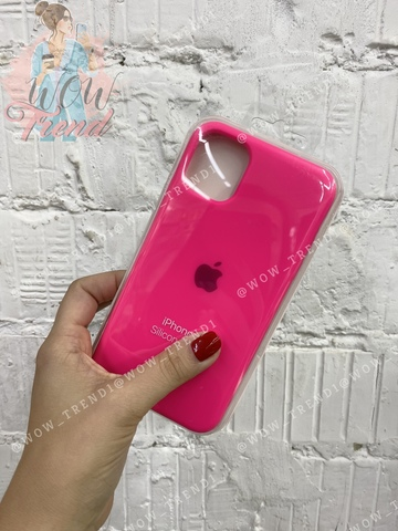 Чехол iPhone 11 Silicone Case /electric pink/ ярко-розовый 1:1