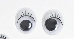 Глазки для кукол овальные, бегающий зрачок.