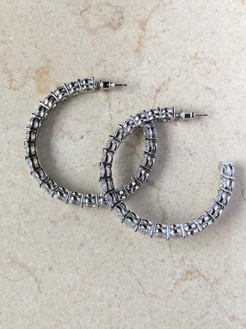 Серьги Футура, серебряный цвет