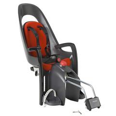 Детское велокресло с наклоном Hamax Caress с замком серый/красный