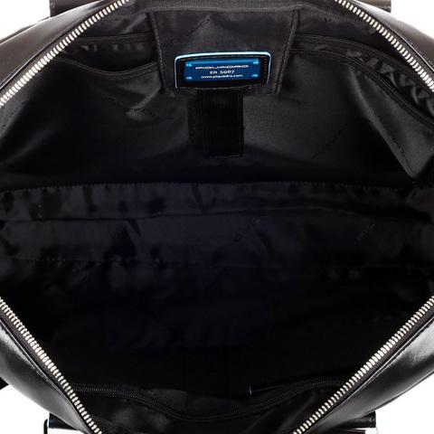 Сумка Piquadro Blue Square, черная, 38,5x27x8,5 см