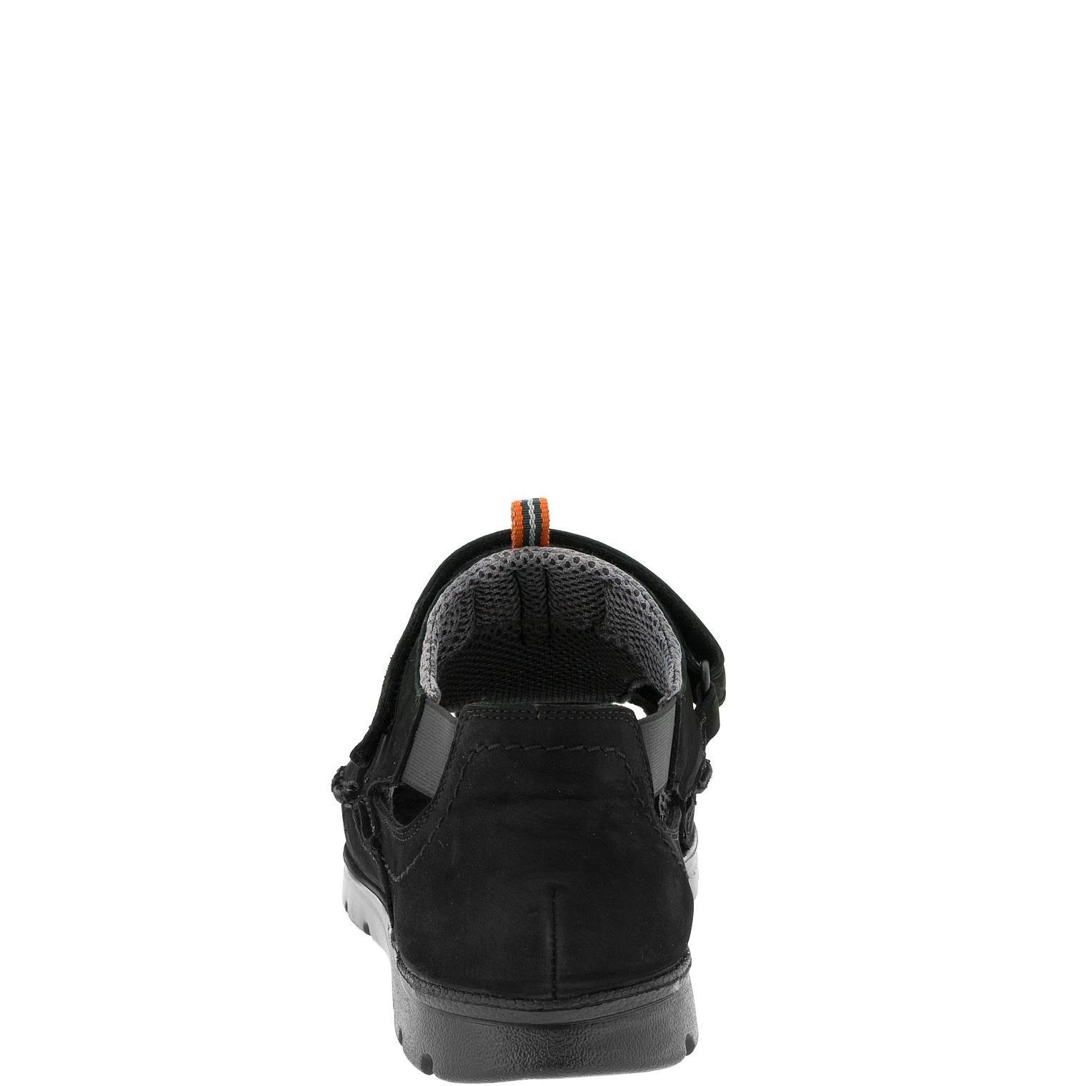 586285 Сандалии мужские черные больших размеров марки Делфино