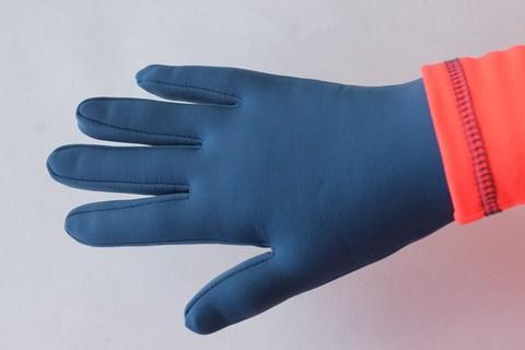 Термоперчатки цветные (серо-голубые)