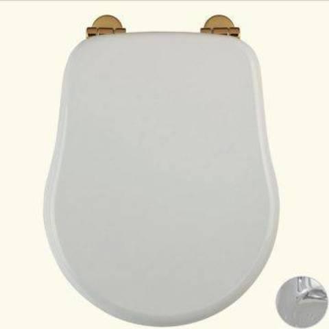 Сиденья для унитаза Migliore Bella ML.BLL-26.111.BI.BR с микролифтом, цвет: белый/бронза