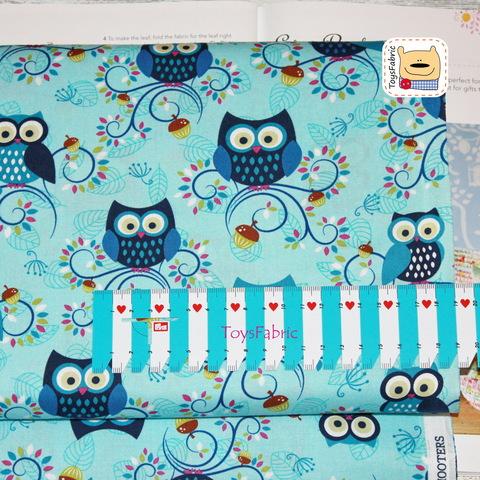 Ткань для пэчворка 20937 (совы на голубом) 45х55см