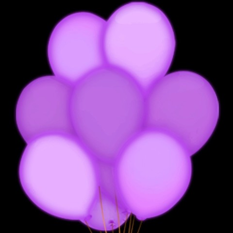 Светящиеся воздушные шары сиреневые