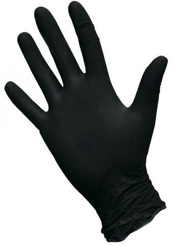 Перчатки косметические нитриловые Черные р. M (100 штук - 50 пар)