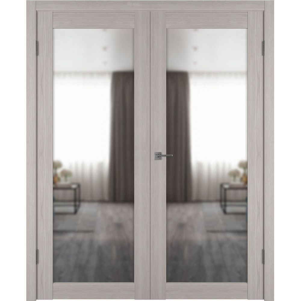 Двери с зеркалом Межкомнатная распашная двустворчатая дверь экошпон VFD 32X stone oak с зеркалом с одной стороны atum-pro-x32-stone-mirror.jpg