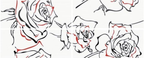 Панно KERLIFE Splendida Rosa 1010х402