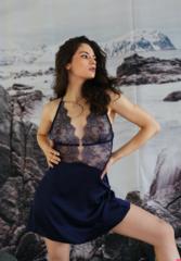 Сорочка темно-синяя Melissa