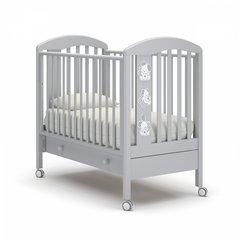 Кровать детская Макс с ящиком белая ночь
