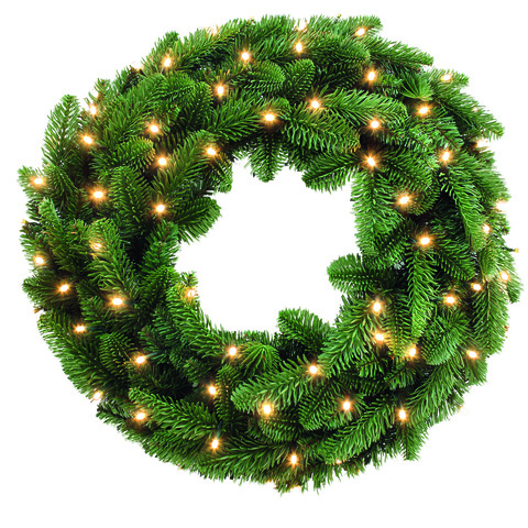 TRIUMPH TREE хвойный круг Нормандия с огоньками зеленый 90см