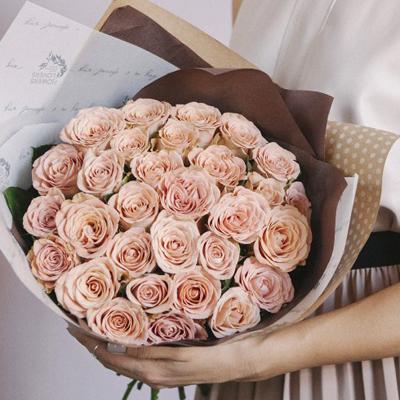 Букет кофейных роз Капучино