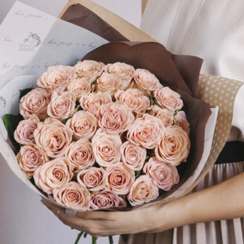 Розы Cappuccino от 9шт