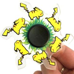 Спиннер 3D бегущий анимационный пикачу