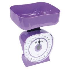 Весы бытовые настольные  5 кг DELTA КСА-106 с чашей фиолетовые