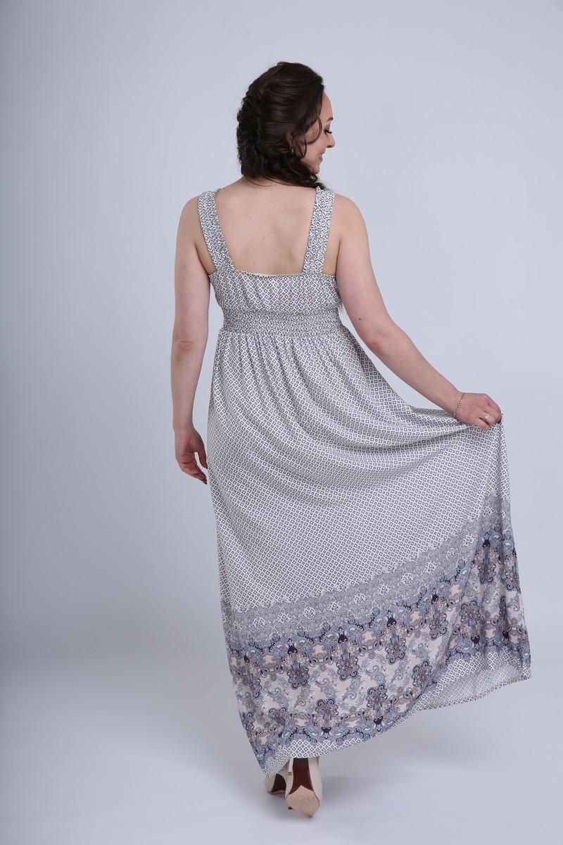 Фото платье для беременных MAMA`S FANTASY, длинное от магазина СкороМама, бежевый, размеры.