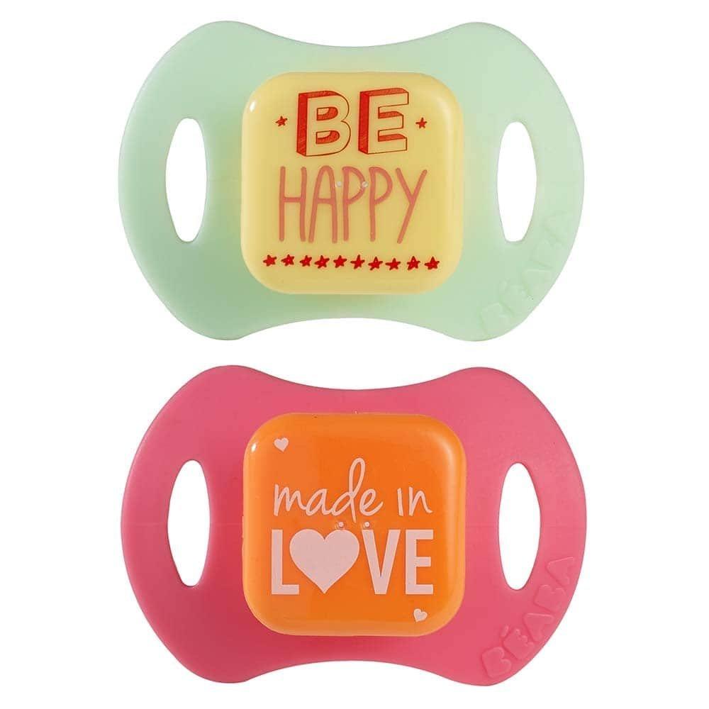 Соска-пустышка детская силиконовая (2 штуки) Beaba