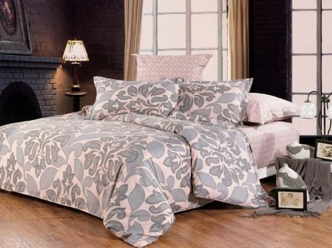 Сатиновое постельное бельё  2 спальное  В-104