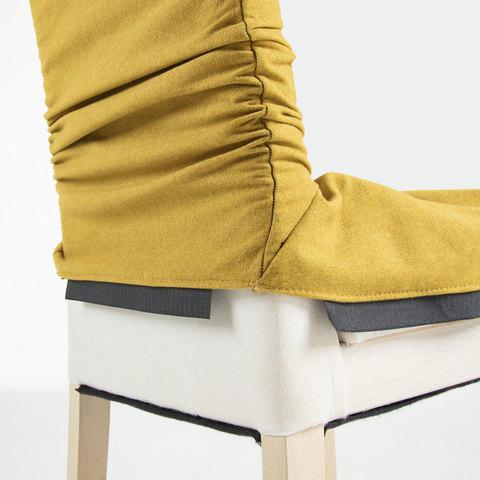 Стул Freia серый бархат ножки натуральные