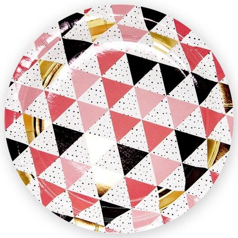 Тарелки (9''/23 см) Геометрия треугольников, 6 шт.