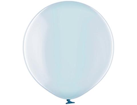 Большой воздушный шар кристалл голубой