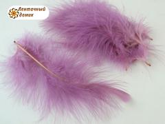 Набор перьев марабу длина 7-17 см аметистовые