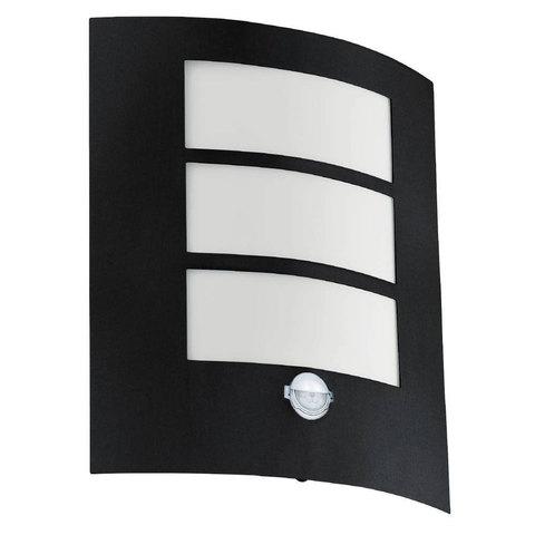 Уличный настенный светильник с датчиком движения Eglo CITY 99568