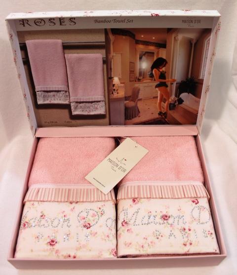 Наборы полотенец Набор полотенец ROSES- РОСЭС 2пр 50х100 Maison Dor (Турция) росес2пр.jpg