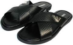 Черные сандалии мужские Giorgio Armani 101 01Black.