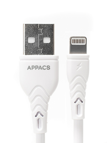 Кабель APPACS (ПРОМО) APEU11i , lightning (for iPhone), 5V/2.4A, 1 метр