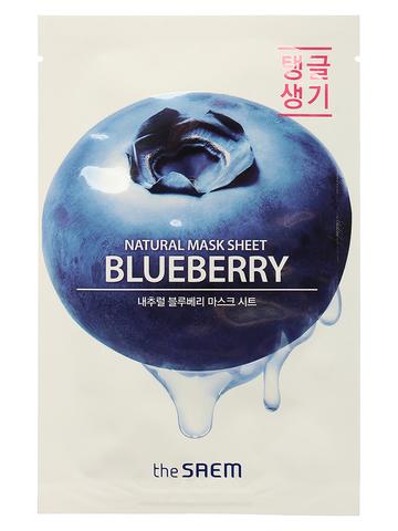 СМ Маска на тканевой основе для лица N с экстрактом черники Natural Blueberry Mask Sheet 21мл