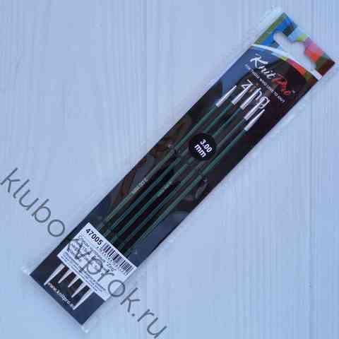 Спицы чулочные Knit Pro Zing алюминий 15 см, № 3
