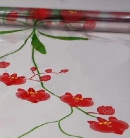 Пленка цветная Орхидея (размер:70см х 7м) Цвет:красный
