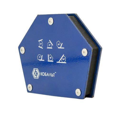 Угольник магнитный КОБАЛЬТ 95 х 48 мм,  на 6 углов (30, 45, 60, 75, 90, 135), магнит до 11 (790-069), шт