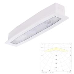 Встраиваемые аварийные светильники с аккумулятором для освещения путей эвакуации Suprema LED SC PT IP54 Intelight