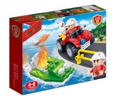 Конструктор 7118 пожарн. машина 62 дет. Ваn Bao