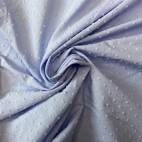 Ткань батист деворе хлопковый голубой 2080