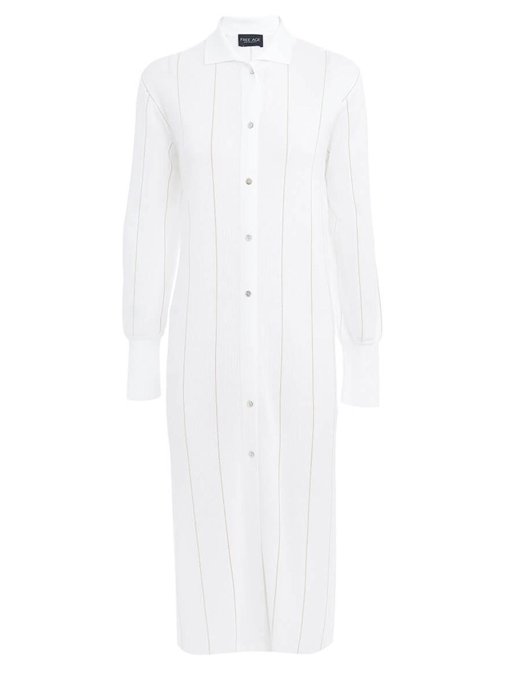 Женское платье белого цвета из вискозы - фото 1
