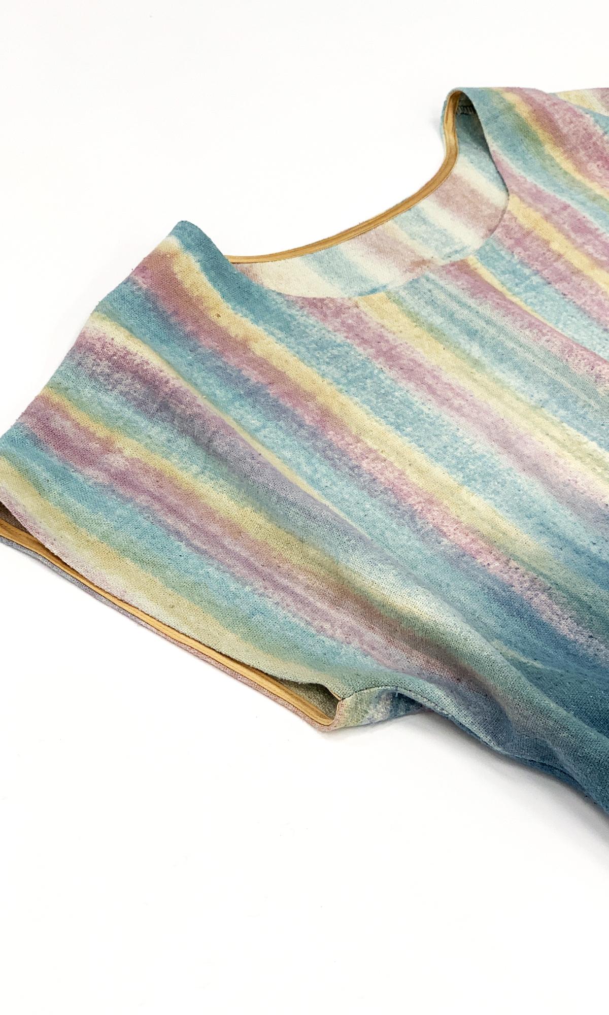 Платье из шелка чесуча