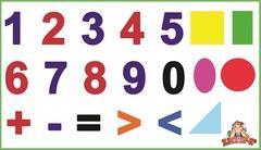 Развивающий набор наклеек:  Занимательная математика